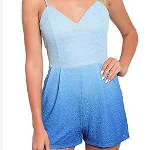 Other - Blue gradiant romper🌊